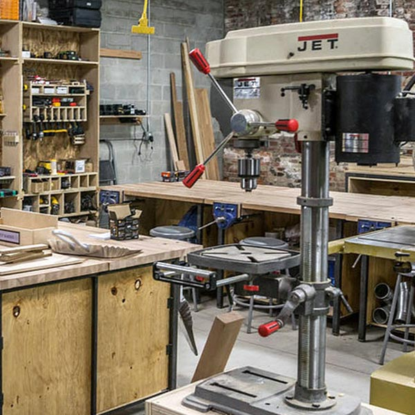 NextFab wood shop makerspace