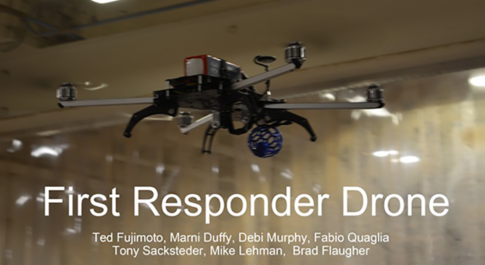 Close up of the Tigerdrone first responder drone