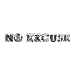 NO EXCUSE - Lyric writing and poem writing via laser printing/etching and calligraphy
