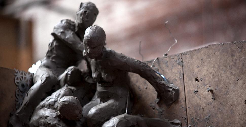 Miguel Antonio Horn's sculpture work at NextFab