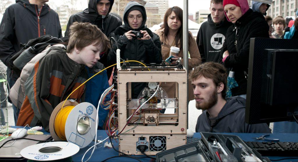 Maker Bot at Maker Faire