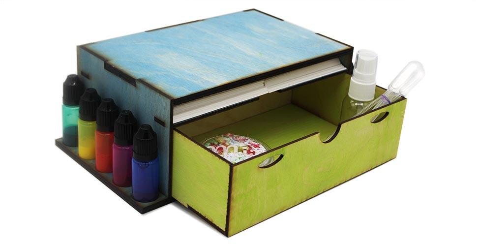 Custom made art box with drawer