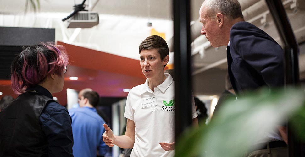 Member of Sage Smart Garden at the RAPID Hardware Accelerator event