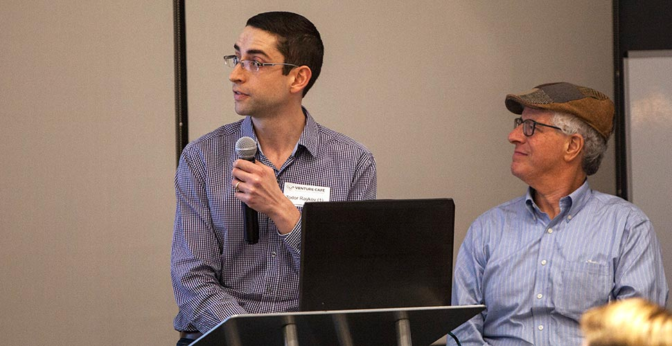 Todor Raykov, Marvin Weinberger presentation at the event