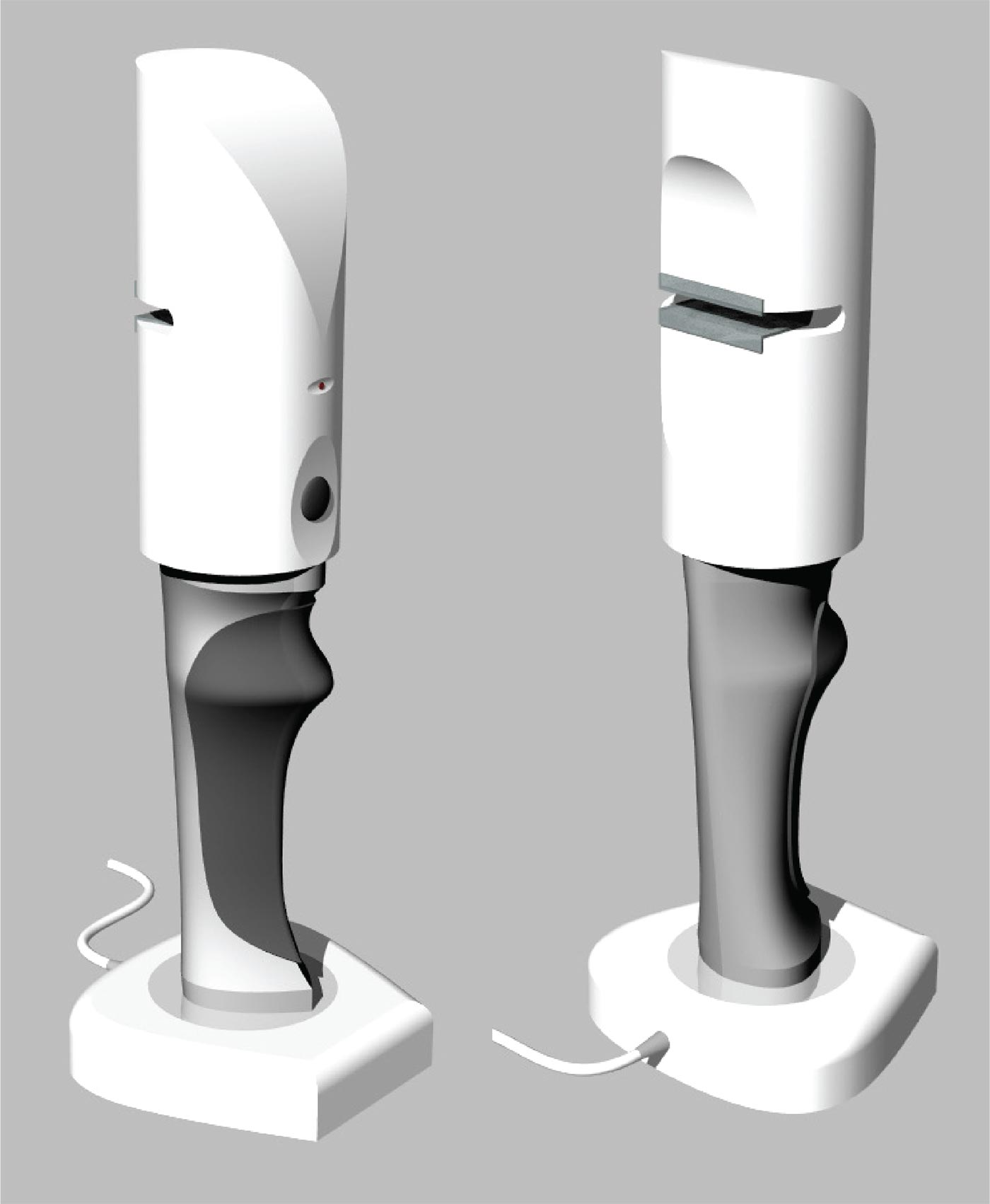 SonoSolve catheter clearing device product concept final 3D rendering made at NextFab makerspace
