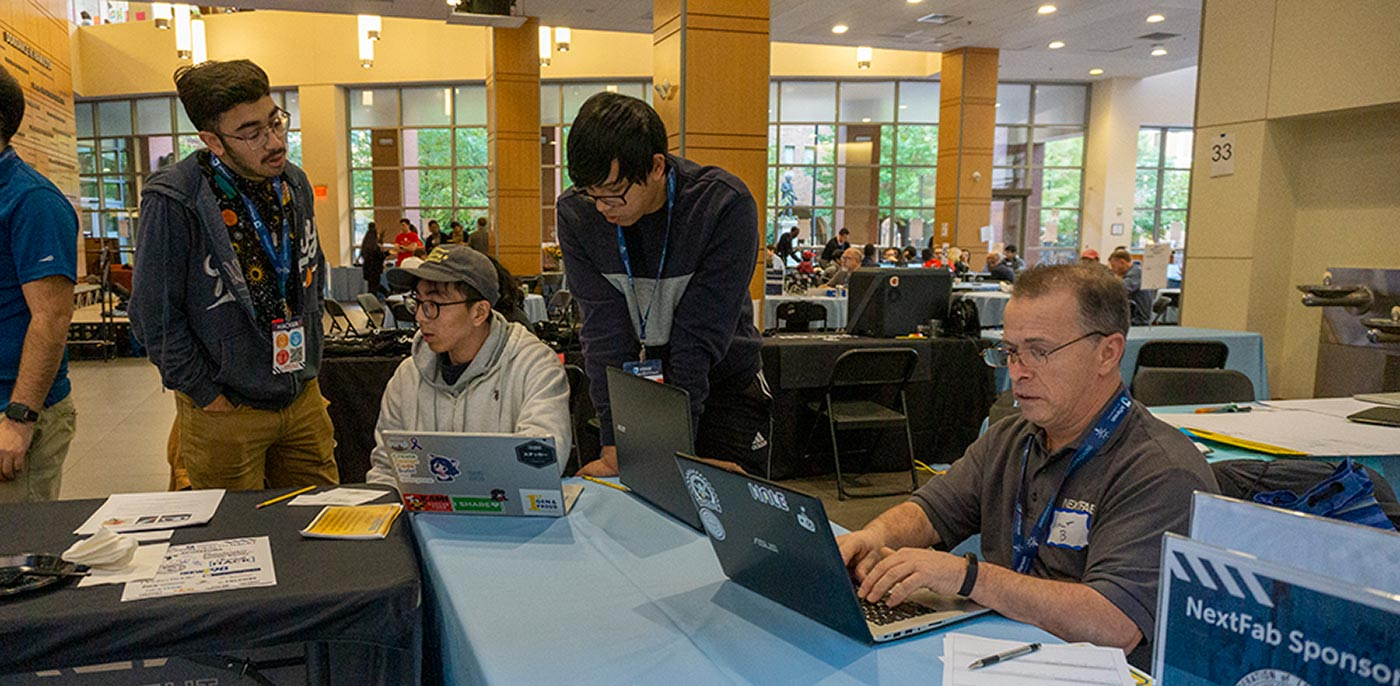 Jefferson Health Hackathon 2019 - NextFab Contract Services team onsite at Jefferson.