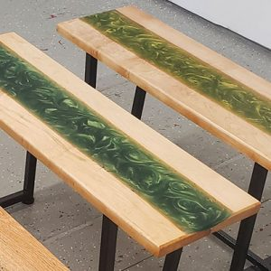 Ironman - Epoxy resin tables, acrylic art, serving boards, steel furniture bases and chairs