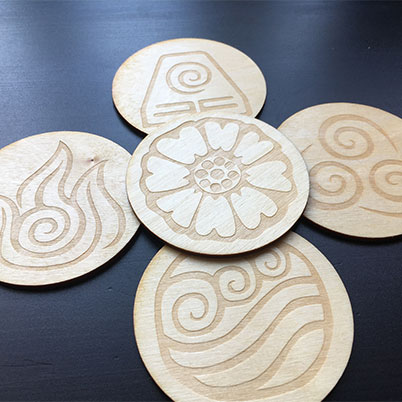 WoodGlow Co - Delightful Laser Cut Coasters